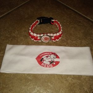 Cincinnati Reds Headband & Bracelet Set 2-1
